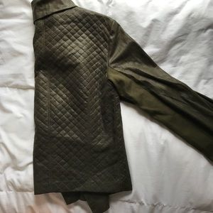 Jackets & Coats - Size small, green suede army jacket